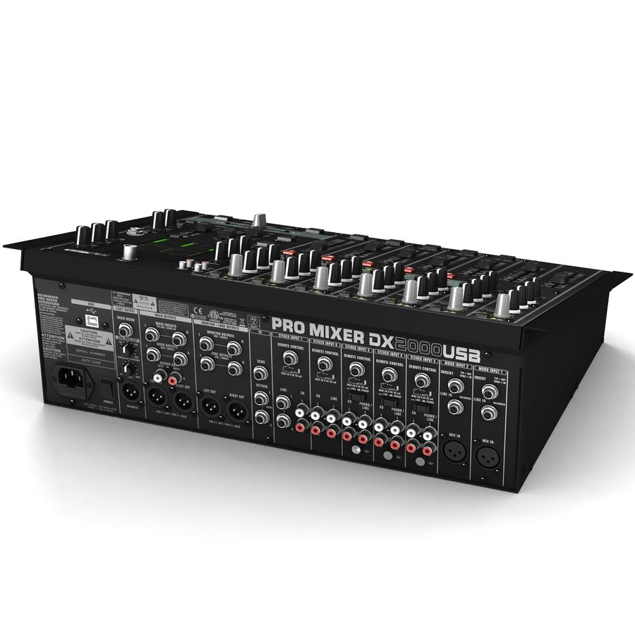 Behringer Dx 2000 Audio DJ Mixer royalty-free 3d model - Preview no. 2