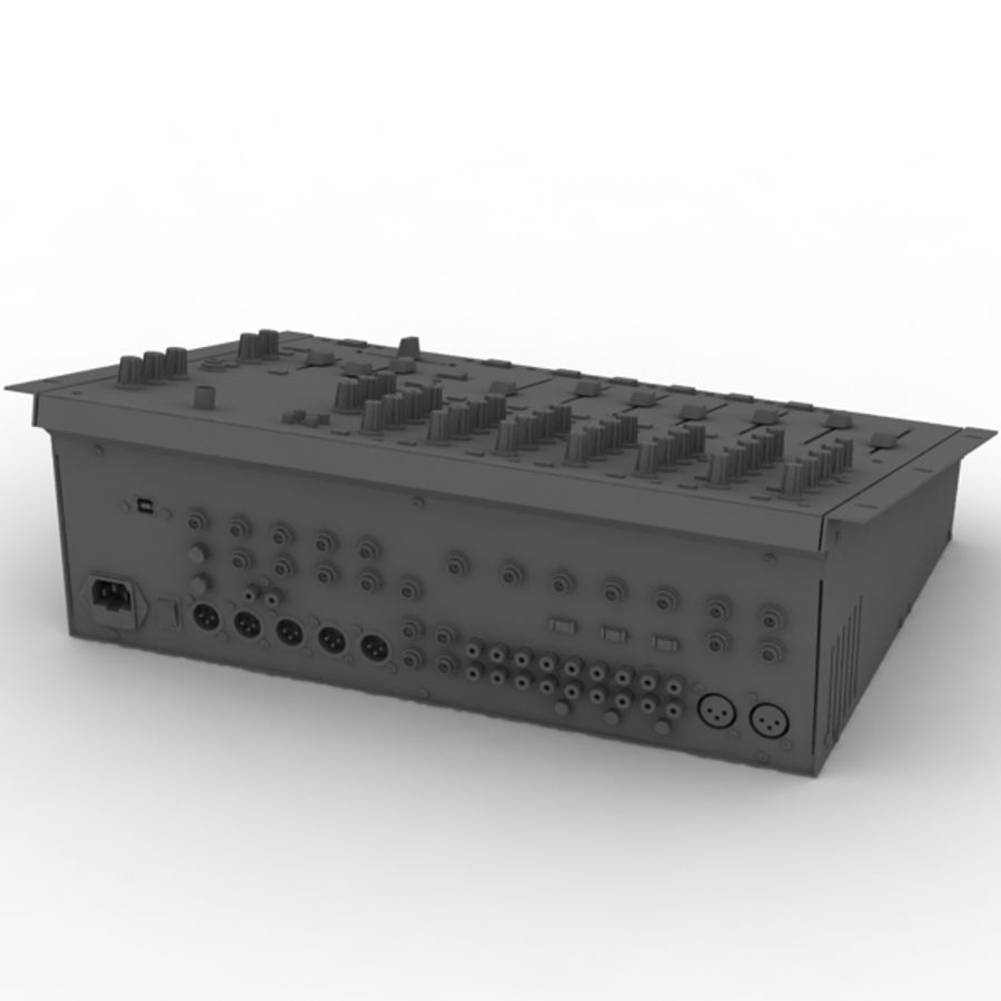 Behringer Dx 2000 Audio DJ Mixer royalty-free 3d model - Preview no. 10