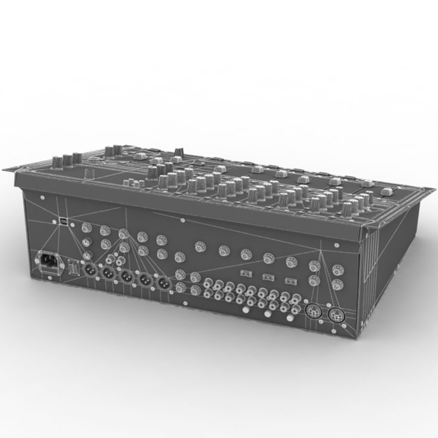 Behringer Dx 2000 Audio DJ Mixer royalty-free 3d model - Preview no. 9
