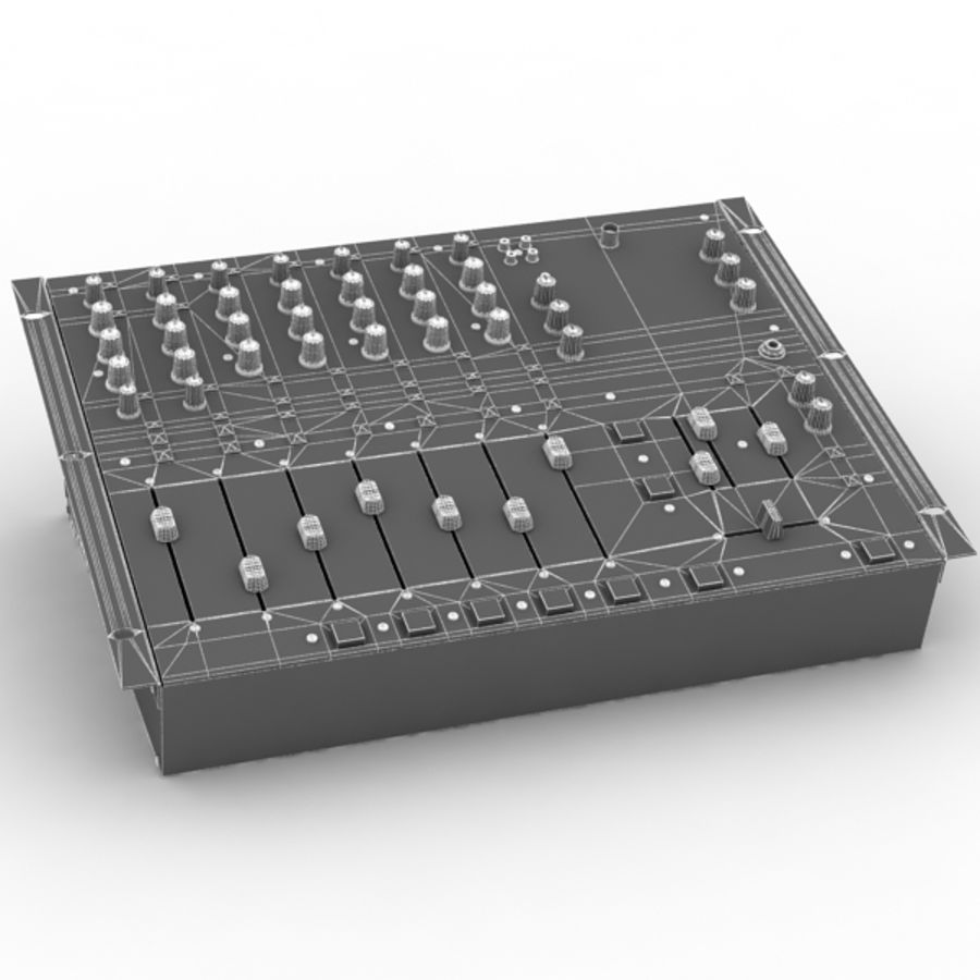 Behringer Dx 2000 Audio DJ Mixer royalty-free 3d model - Preview no. 8