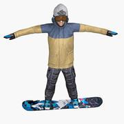 Snowboarder Gameready Charakter 3d model