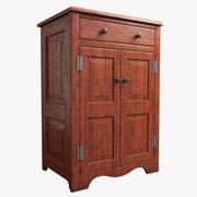 Mueble de madera modelo 3d