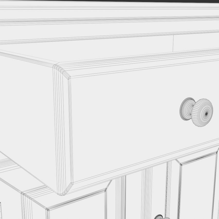 Wooden Cabinet royalty-free 3d model - Preview no. 14