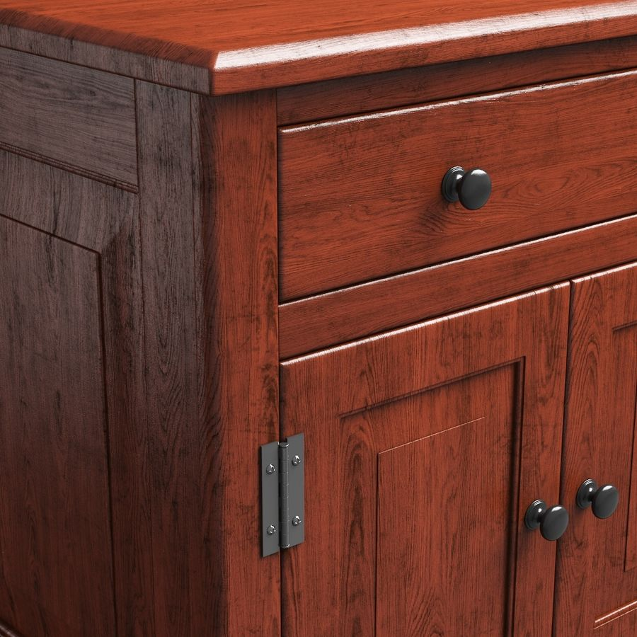 Wooden Cabinet royalty-free 3d model - Preview no. 7