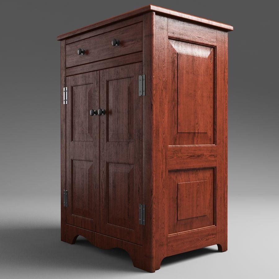 Mueble de madera royalty-free modelo 3d - Preview no. 3