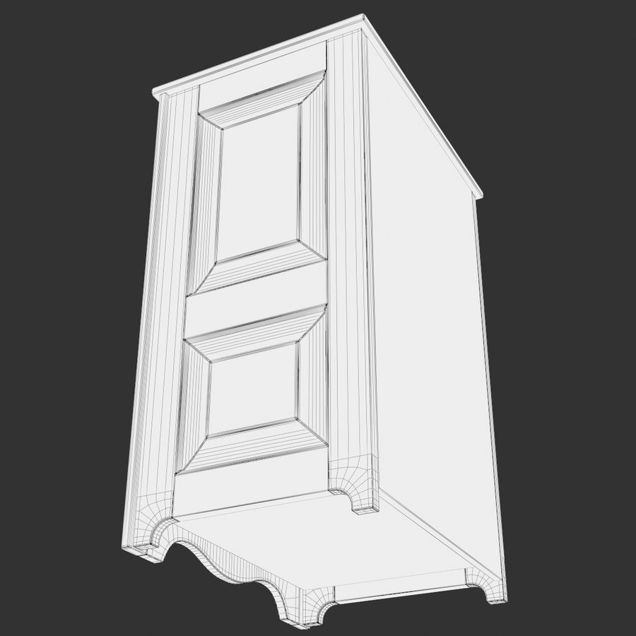 Wooden Cabinet royalty-free 3d model - Preview no. 11
