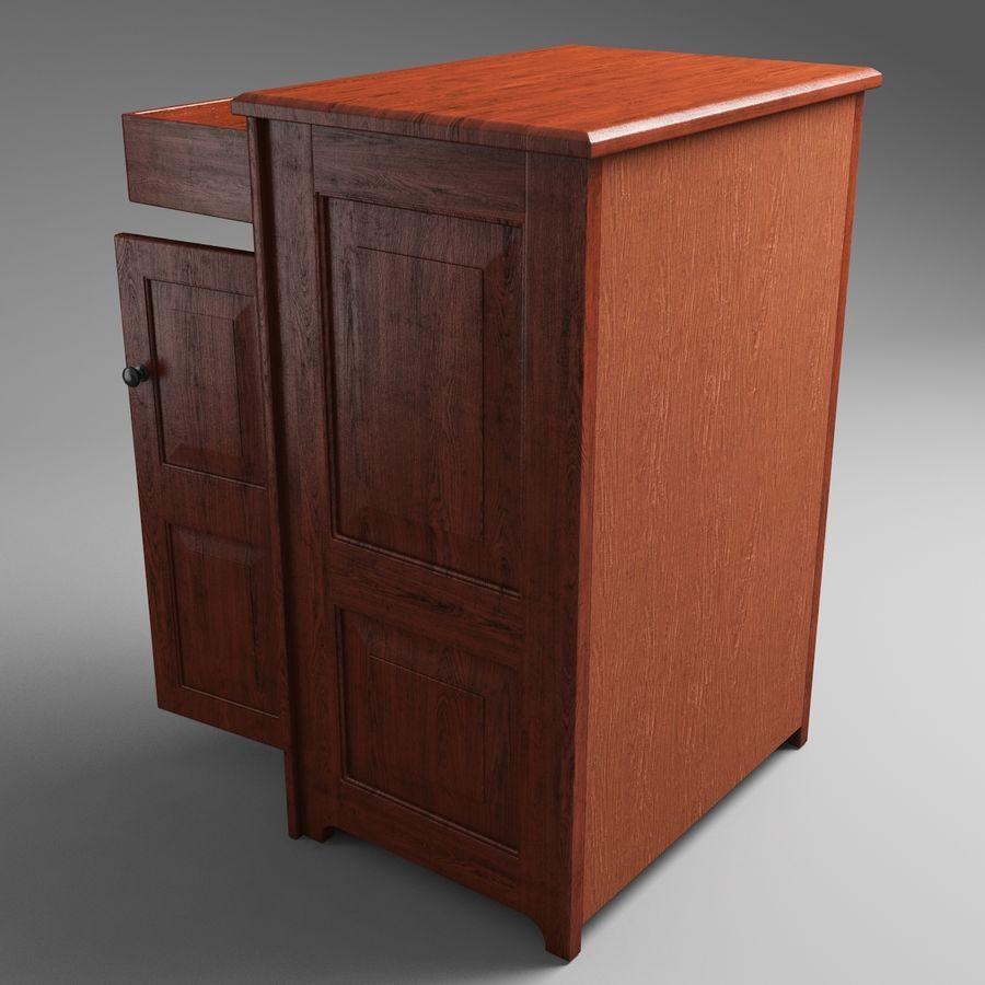 Mueble de madera royalty-free modelo 3d - Preview no. 6
