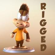 マヤの漫画のキャラクターの猿 3d model
