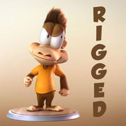 Maya Cartoon Character Monkey 3d model