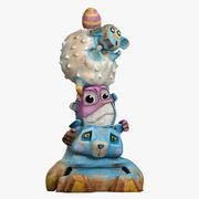 Toy Animal Totem(1) 3d model