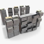 Simple office Document Cabinet 3d model