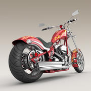 Motocykl Big Dog K9 Chopper 3d model