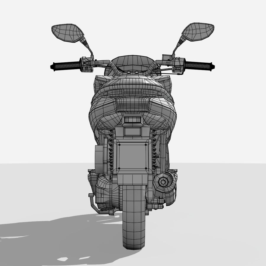 Roller / Motorrad royalty-free 3d model - Preview no. 16
