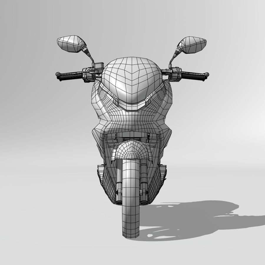 Moto / scooter royalty-free 3d model - Preview no. 14