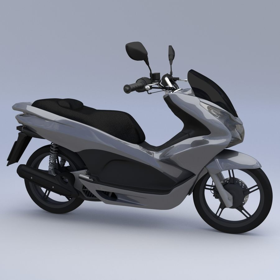 Moto / scooter royalty-free 3d model - Preview no. 1