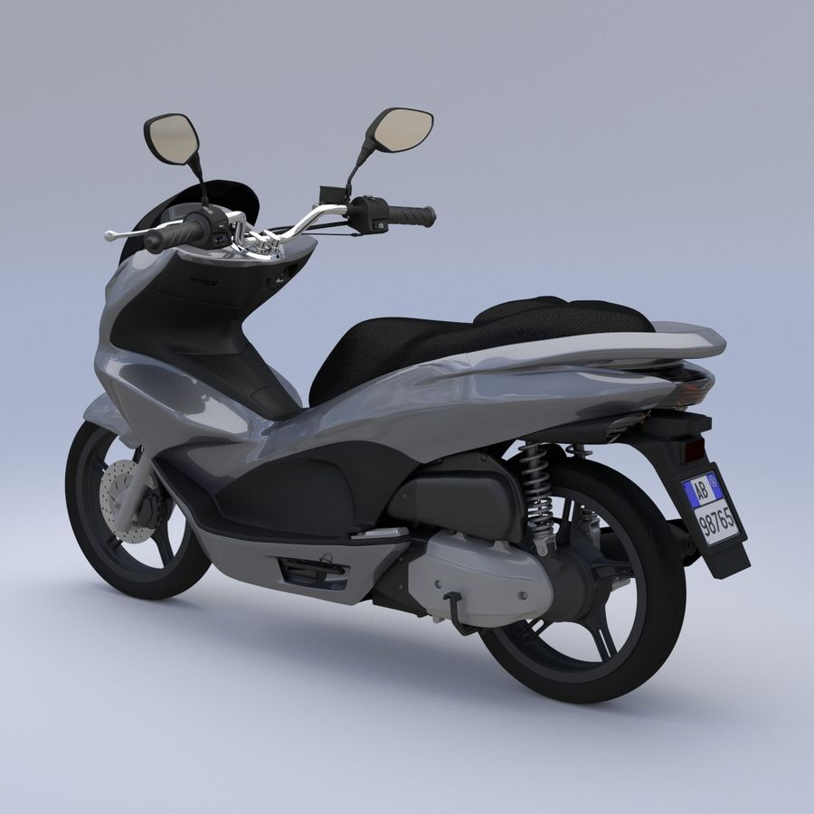 Moto / scooter royalty-free 3d model - Preview no. 7