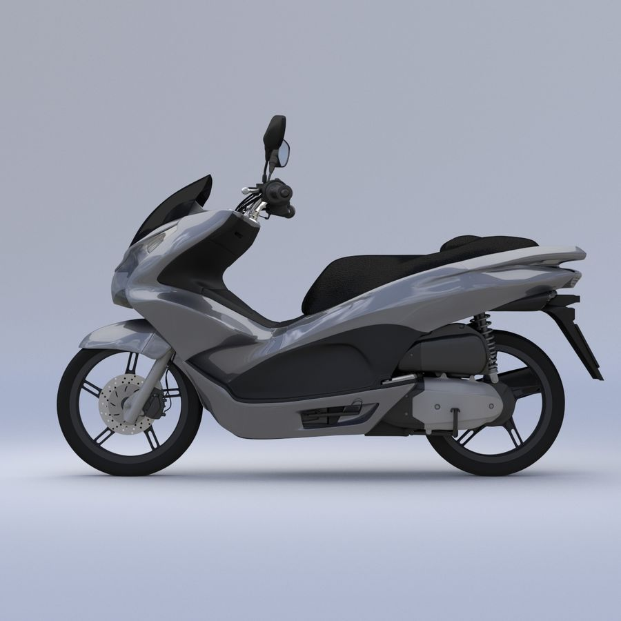 Roller / Motorrad royalty-free 3d model - Preview no. 6