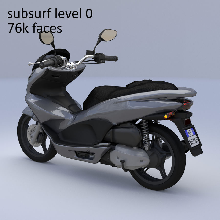 Moto / scooter royalty-free 3d model - Preview no. 19