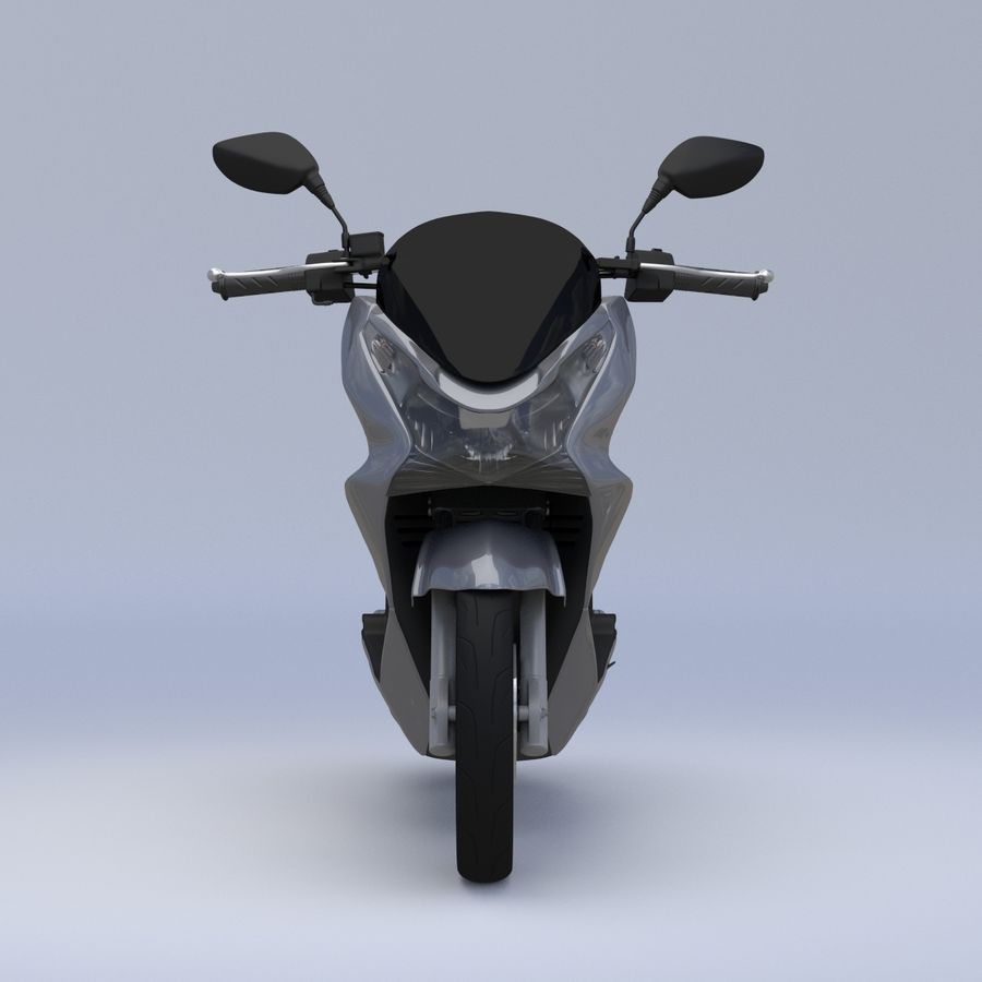 Moto / scooter royalty-free 3d model - Preview no. 3