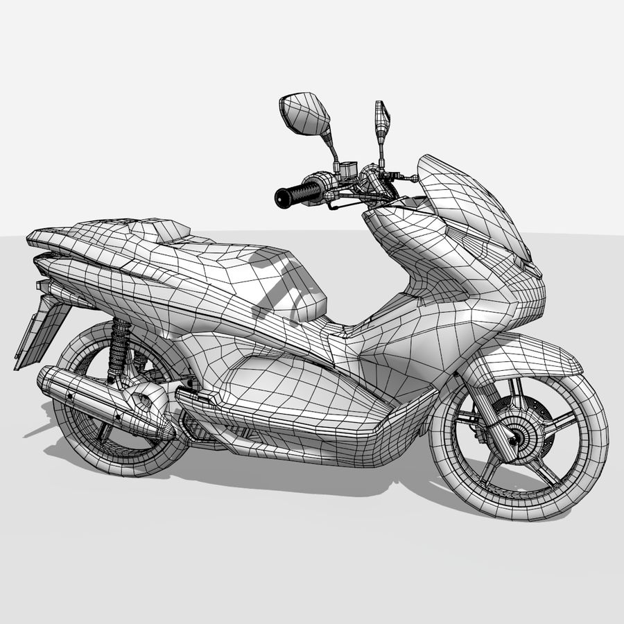 Moto / scooter royalty-free 3d model - Preview no. 13