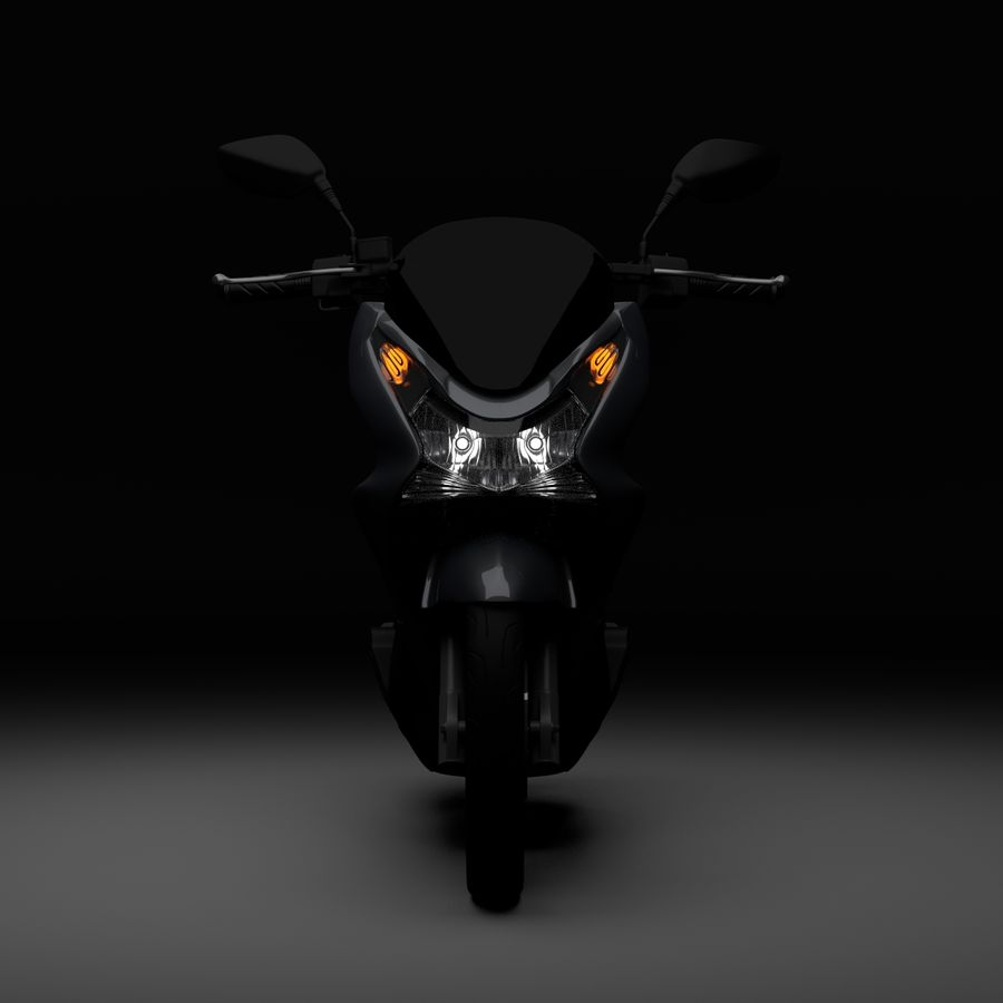 Moto / scooter royalty-free 3d model - Preview no. 4