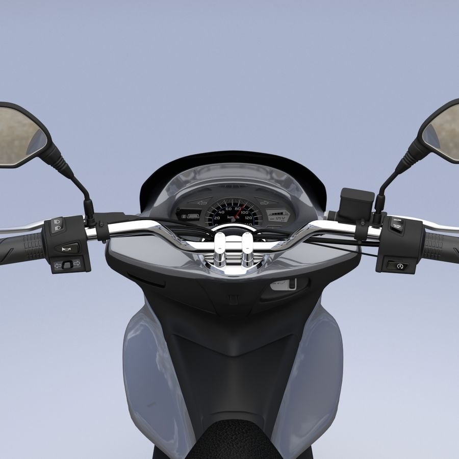 Moto / scooter royalty-free 3d model - Preview no. 11