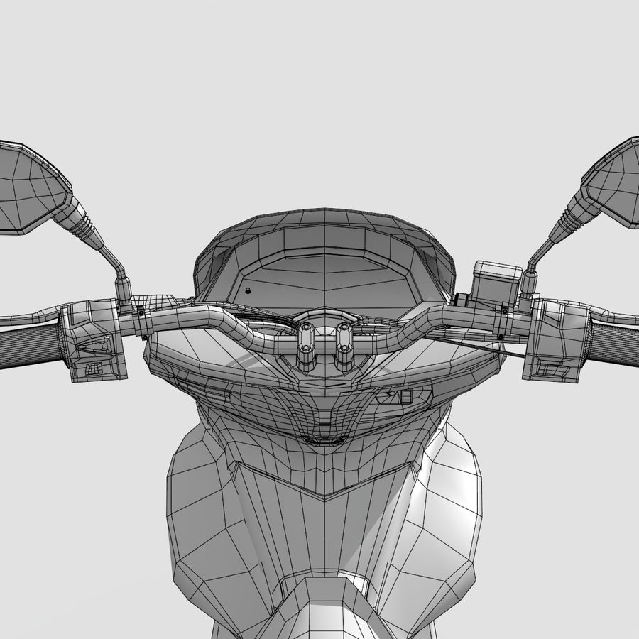 Moto / scooter royalty-free 3d model - Preview no. 17