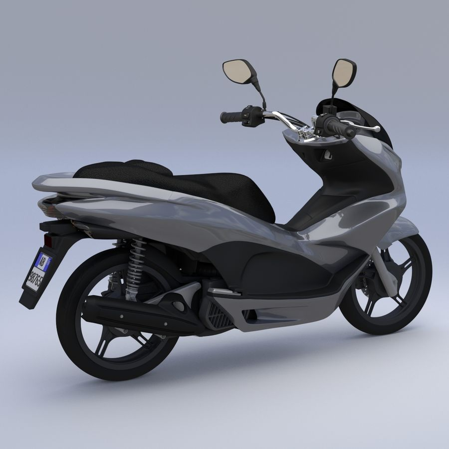 Moto / scooter royalty-free 3d model - Preview no. 10