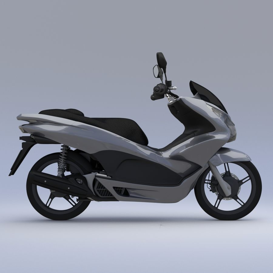 Moto / scooter royalty-free 3d model - Preview no. 2