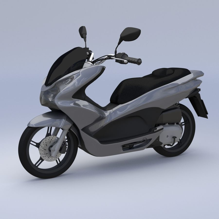 Moto / scooter royalty-free 3d model - Preview no. 5