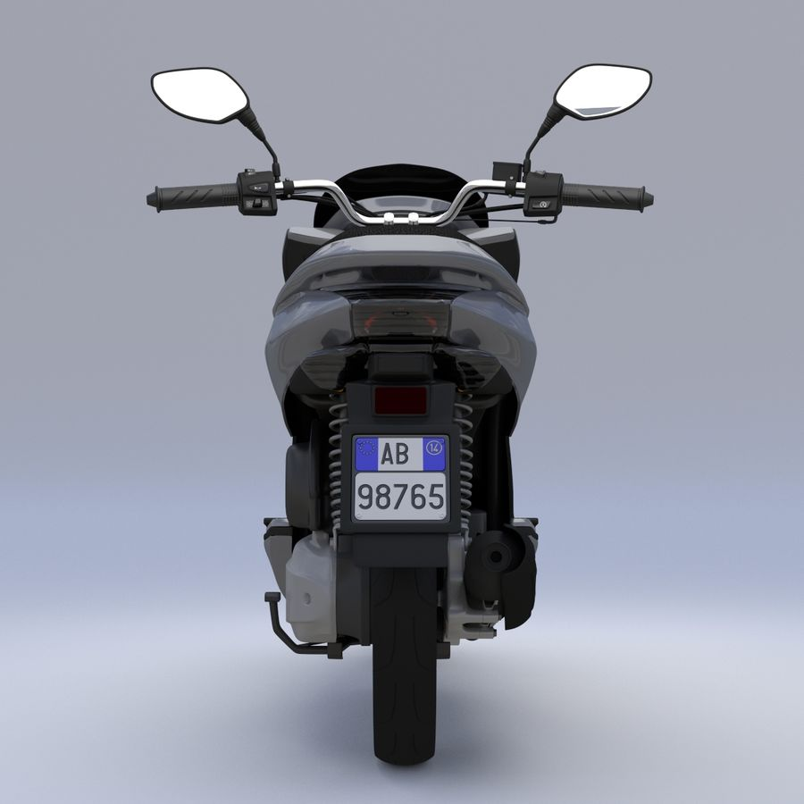 Moto / scooter royalty-free 3d model - Preview no. 8