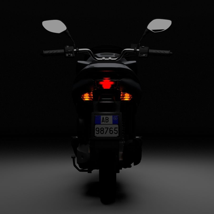 Moto / scooter royalty-free 3d model - Preview no. 9