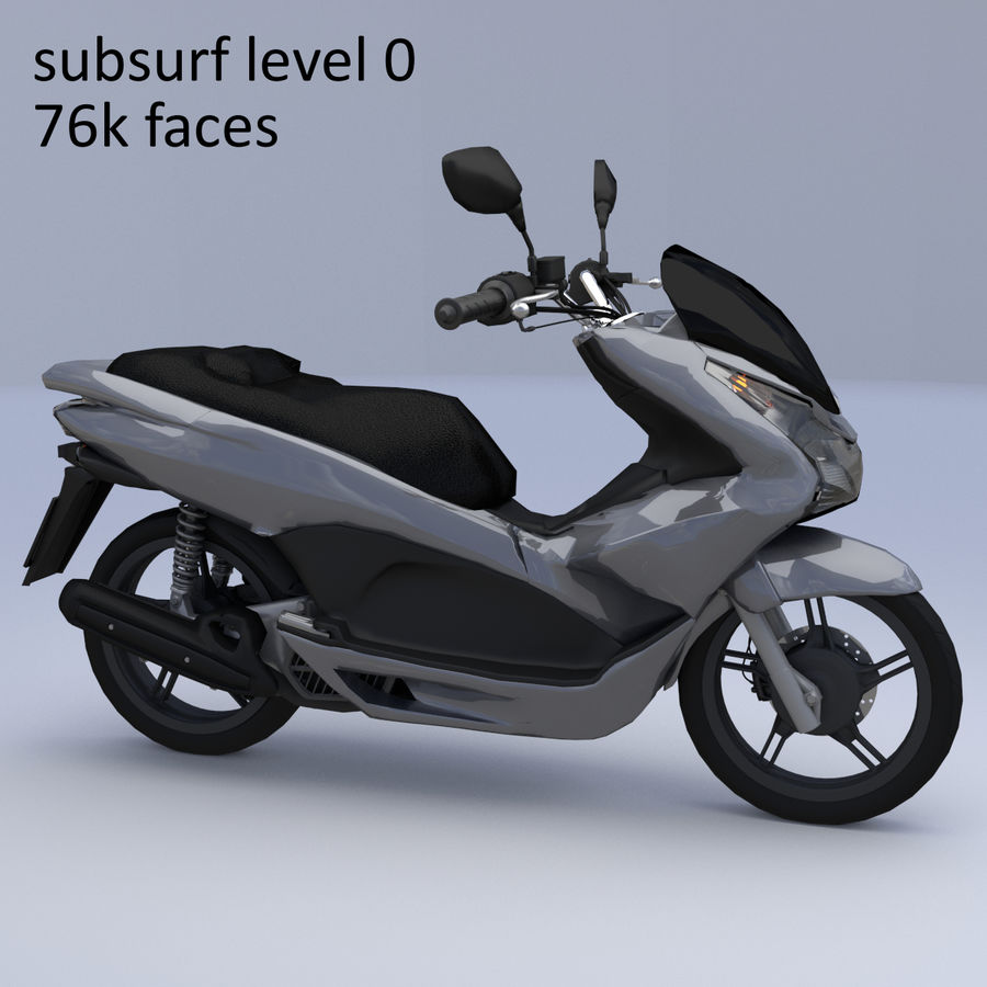Moto / scooter royalty-free 3d model - Preview no. 18
