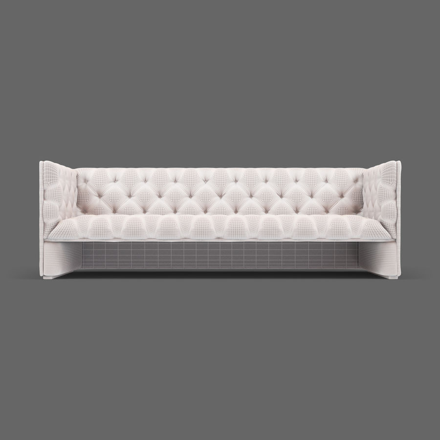 Leather Sofa (Brown) royalty-free 3d model - Preview no. 22