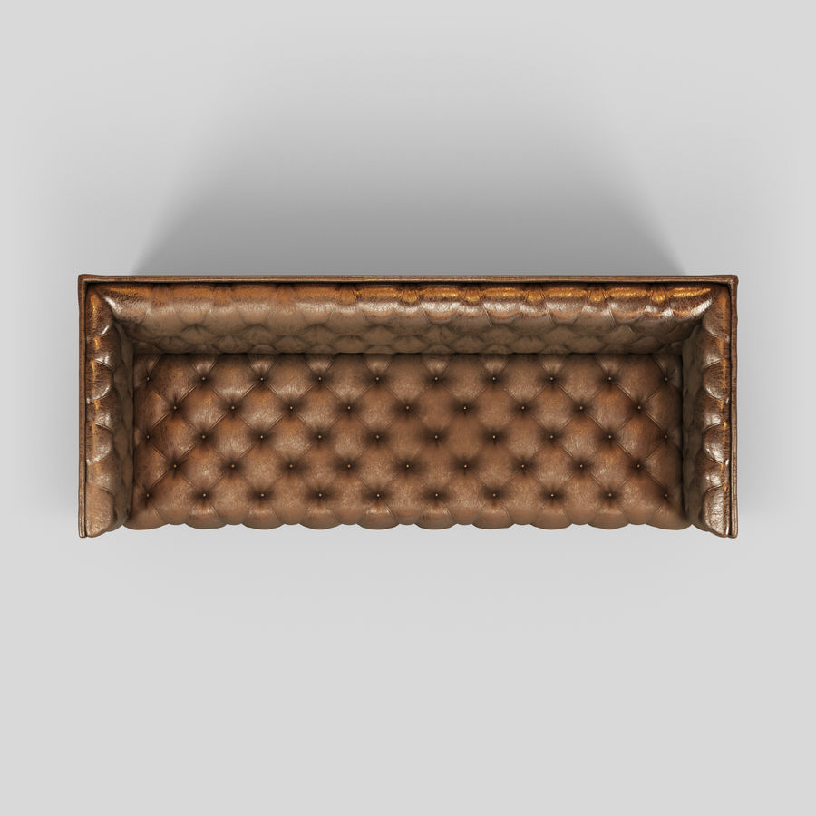 Leather Sofa (Brown) royalty-free 3d model - Preview no. 21