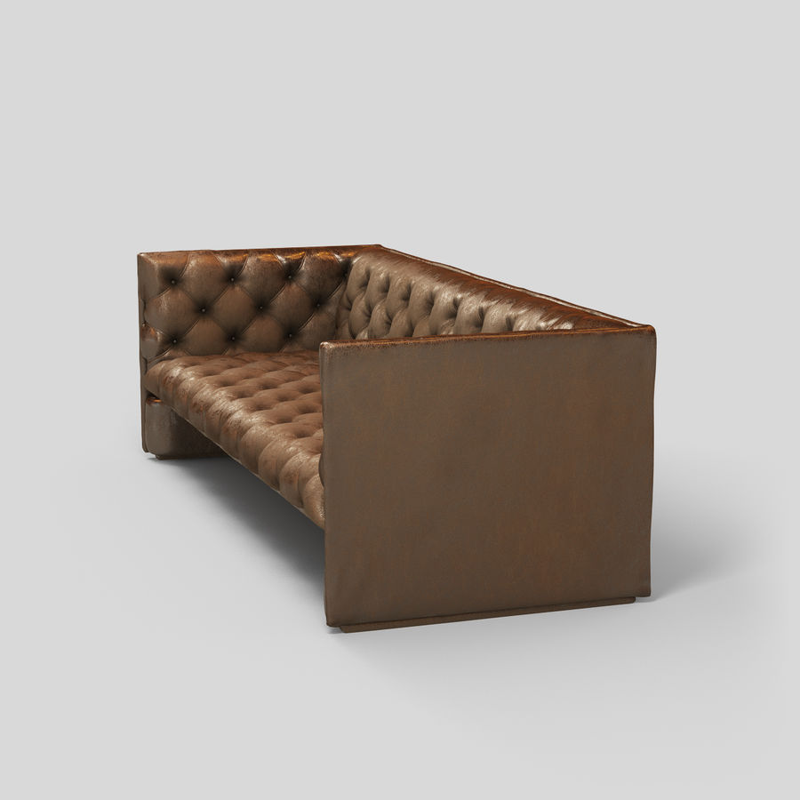 Leather Sofa (Brown) royalty-free 3d model - Preview no. 15
