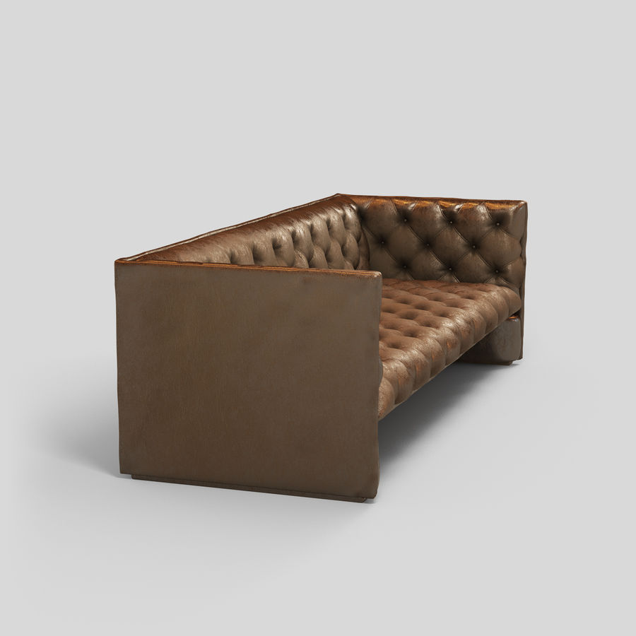 Leather Sofa (Brown) royalty-free 3d model - Preview no. 13