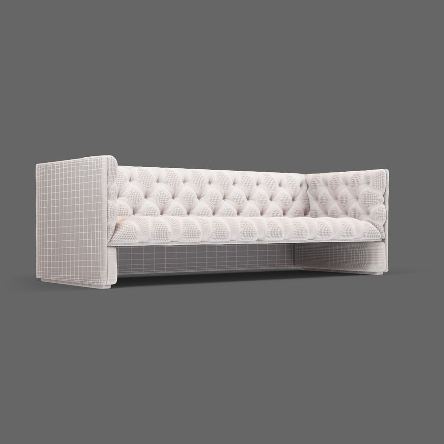 Leather Sofa (Brown) royalty-free 3d model - Preview no. 23