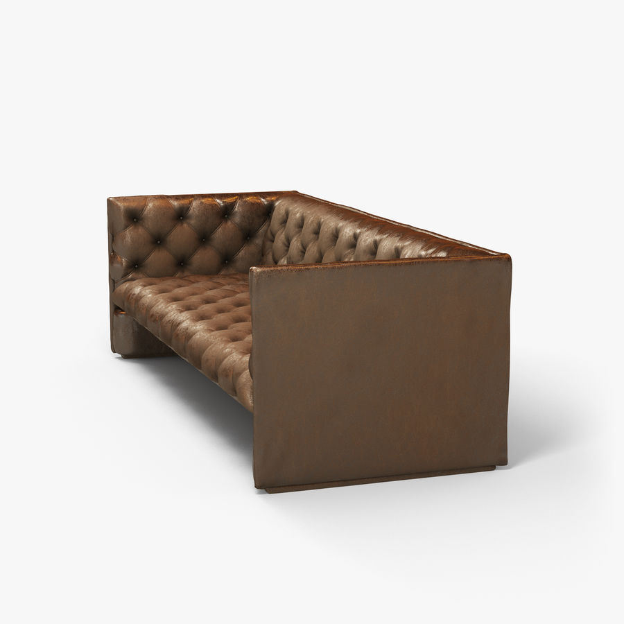 Leather Sofa (Brown) royalty-free 3d model - Preview no. 14