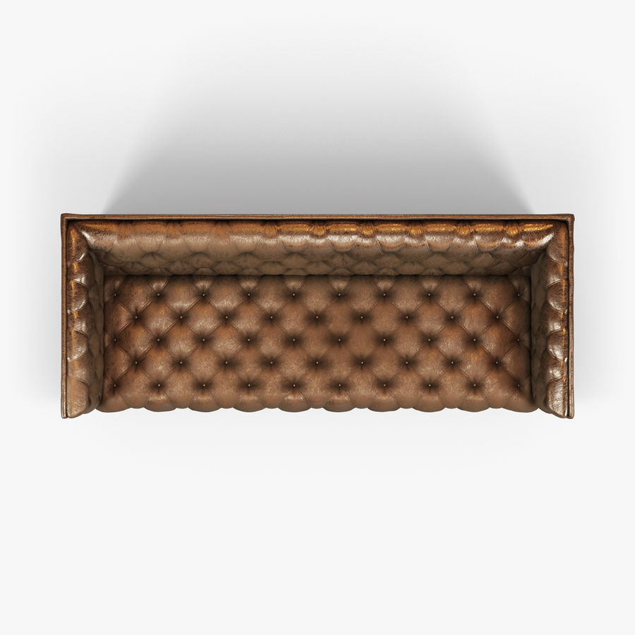 Leather Sofa (Brown) royalty-free 3d model - Preview no. 20