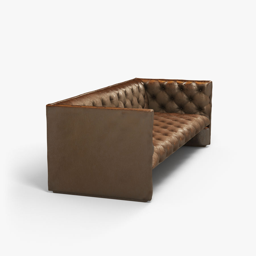 Leather Sofa (Brown) royalty-free 3d model - Preview no. 12
