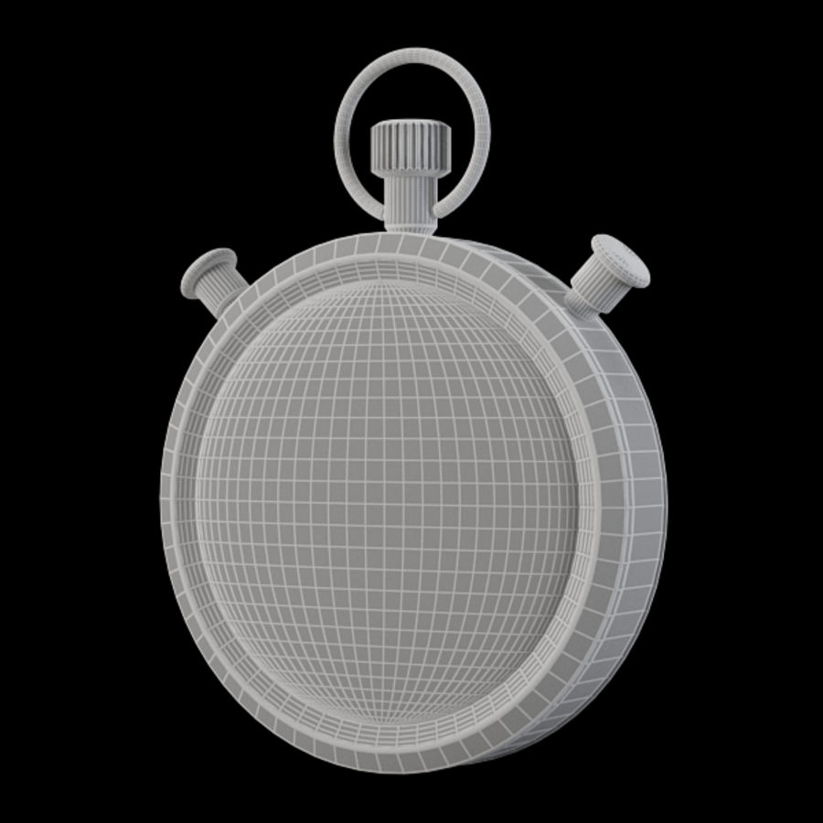 Stopwatch royalty-free 3d model - Preview no. 11