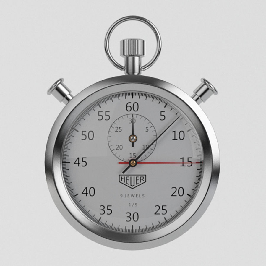 Stopwatch royalty-free 3d model - Preview no. 4
