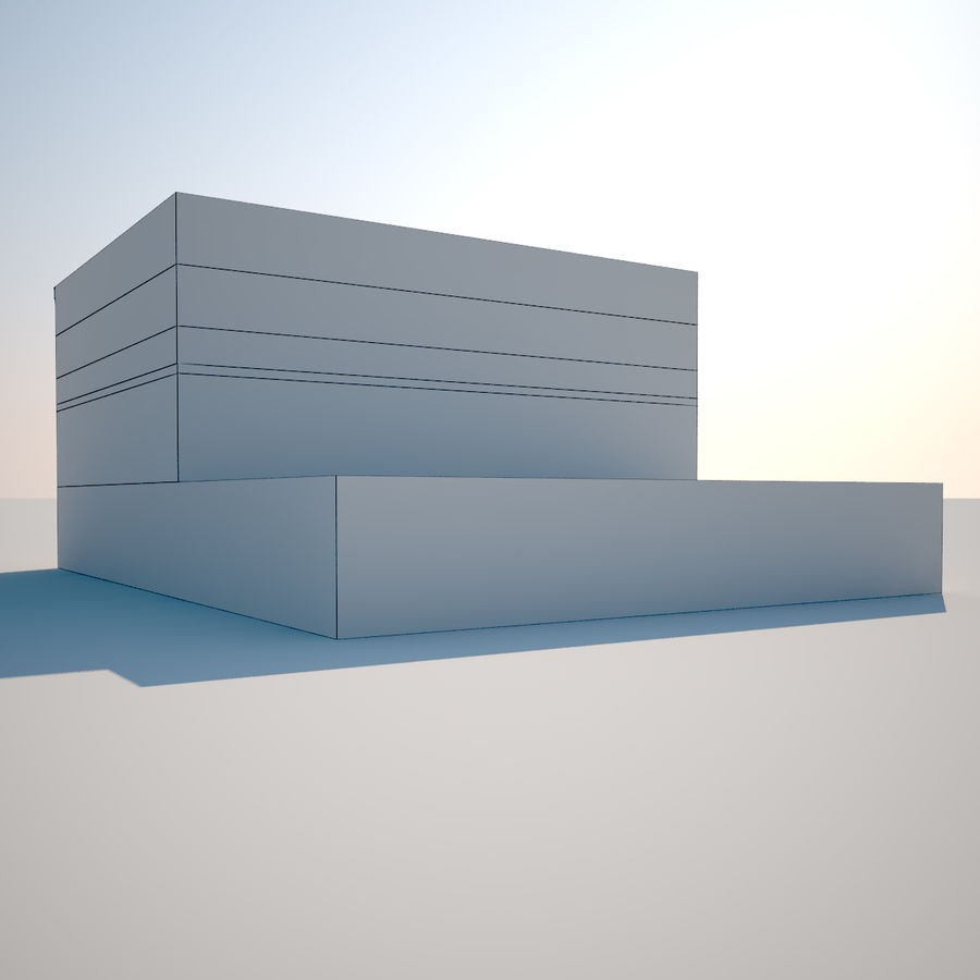 BRICK BUILDING royalty-free 3d model - Preview no. 8