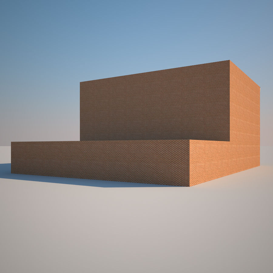 BRICK BUILDING royalty-free 3d model - Preview no. 5