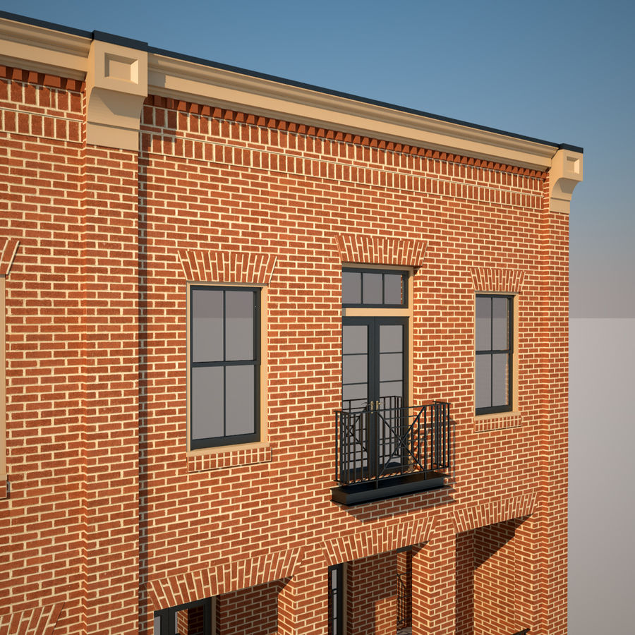 BRICK BUILDING royalty-free 3d model - Preview no. 15