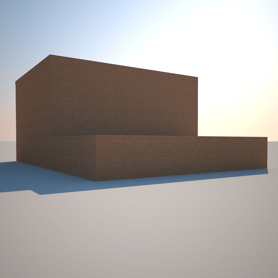 BRICK BUILDING royalty-free 3d model - Preview no. 7