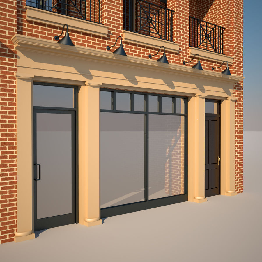 BRICK BUILDING royalty-free 3d model - Preview no. 11