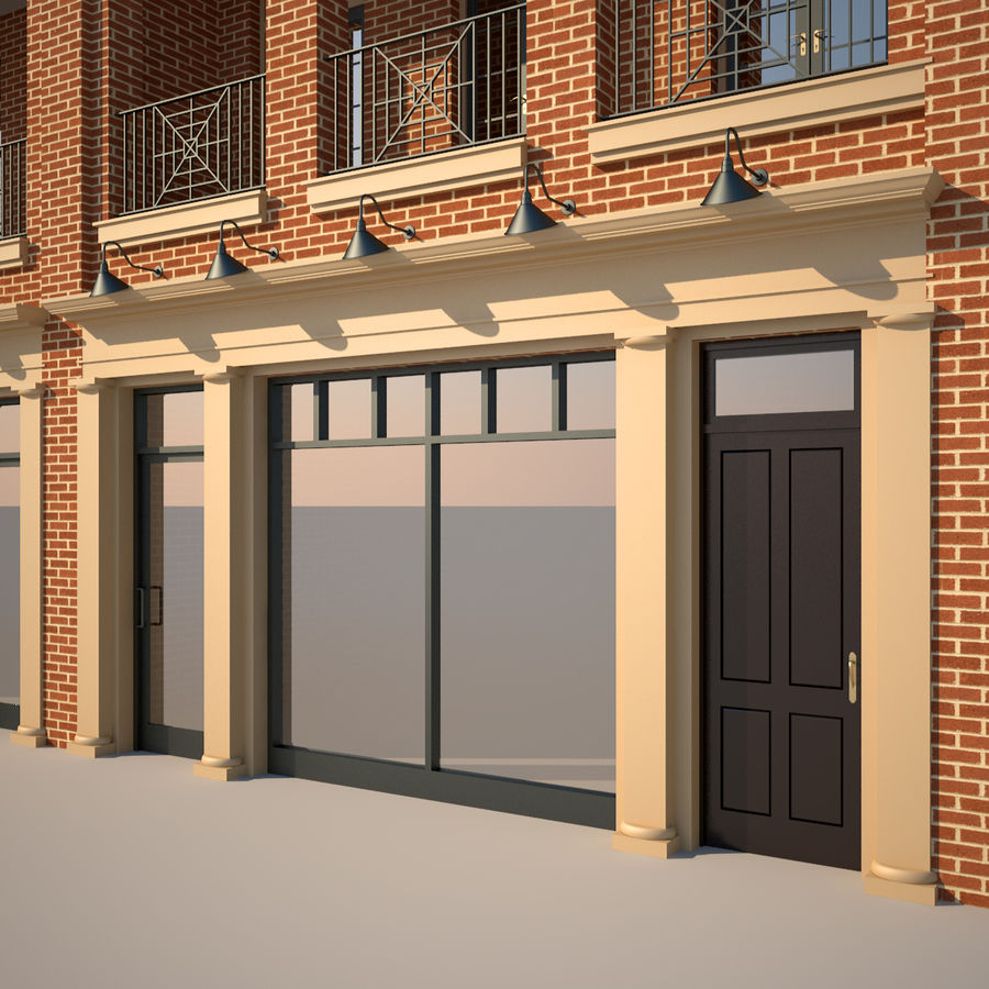 BRICK BUILDING royalty-free 3d model - Preview no. 9
