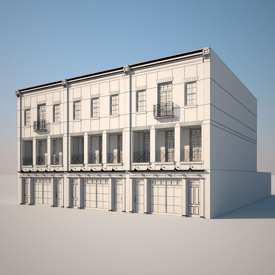 BRICK BUILDING royalty-free 3d model - Preview no. 2